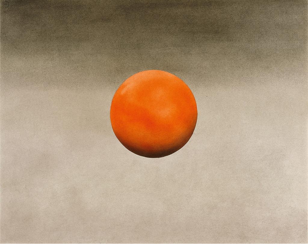 Ed ruscha orange roller 1976 pastel