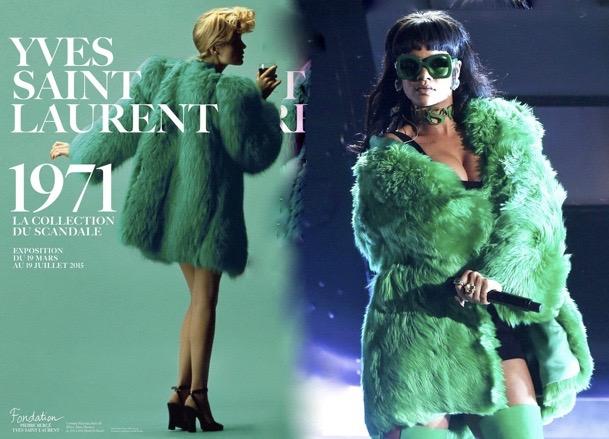 manteau vert st laurent