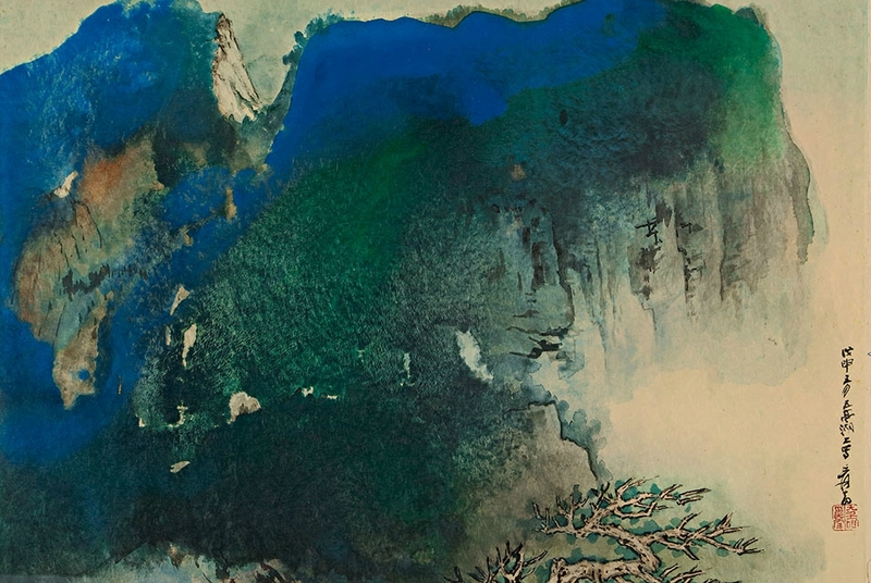 Blue cliff and old tree zhang daquian 1899:1983 sotheb