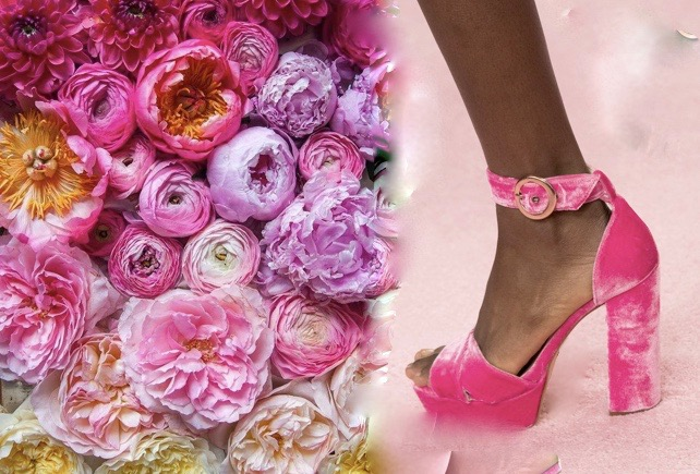 pink shoes flowers