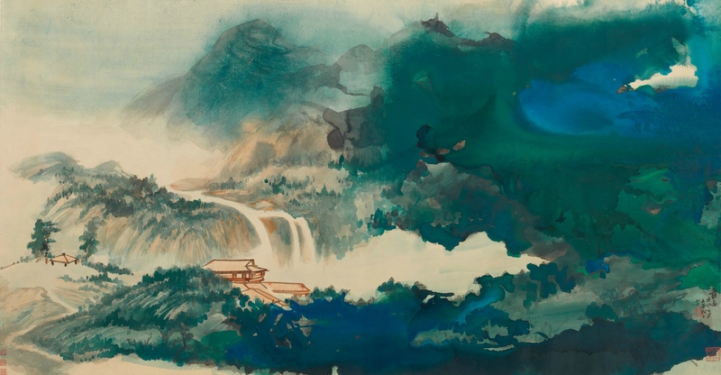 Zhang daqian water&sky after rain courtesy sothb